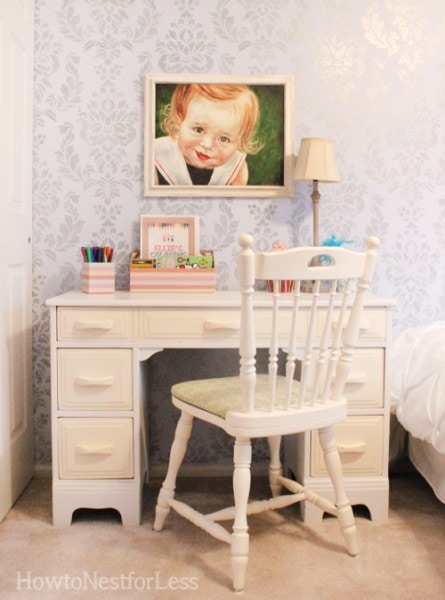 painted kids desk and chair