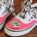 painted kids tennis shoes