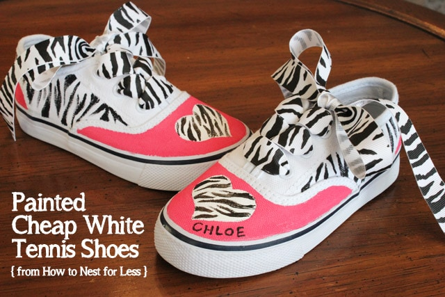 painted white tennis shoes