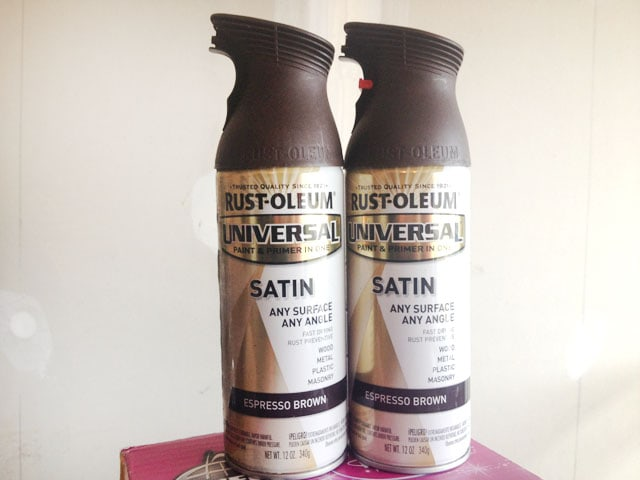 rustoleum satin expresso spray paint