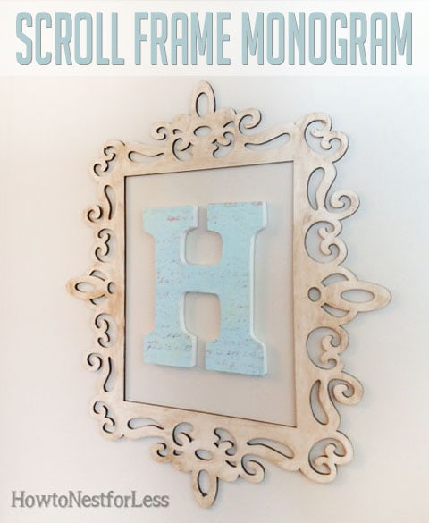 scroll frame monogram
