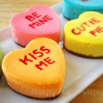 valentines day conversation heart cheesecakes