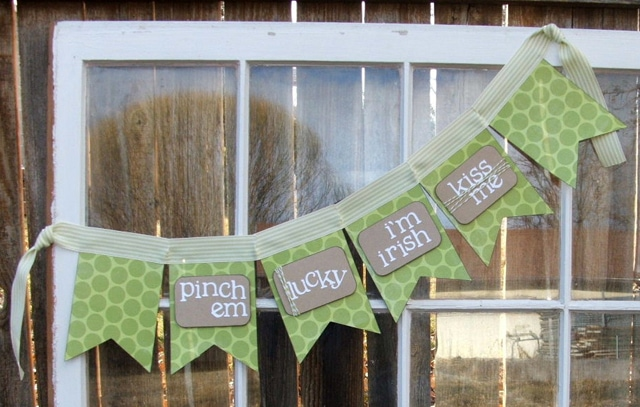 St Patricks Day fabric Banner