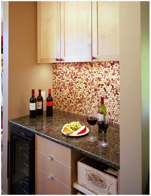 cork backsplash