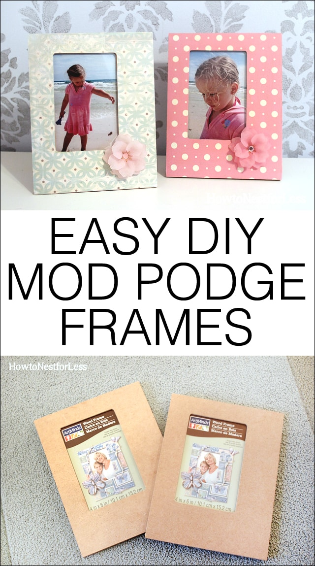 easy diy mod podge frames