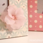 flower mod podge photo frames