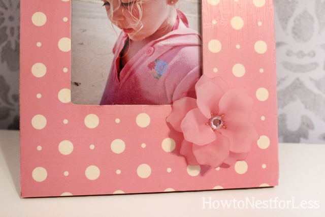 flower mod podge picture frames