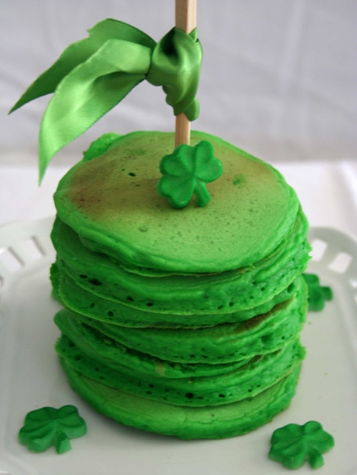 green st pattys day pancakes
