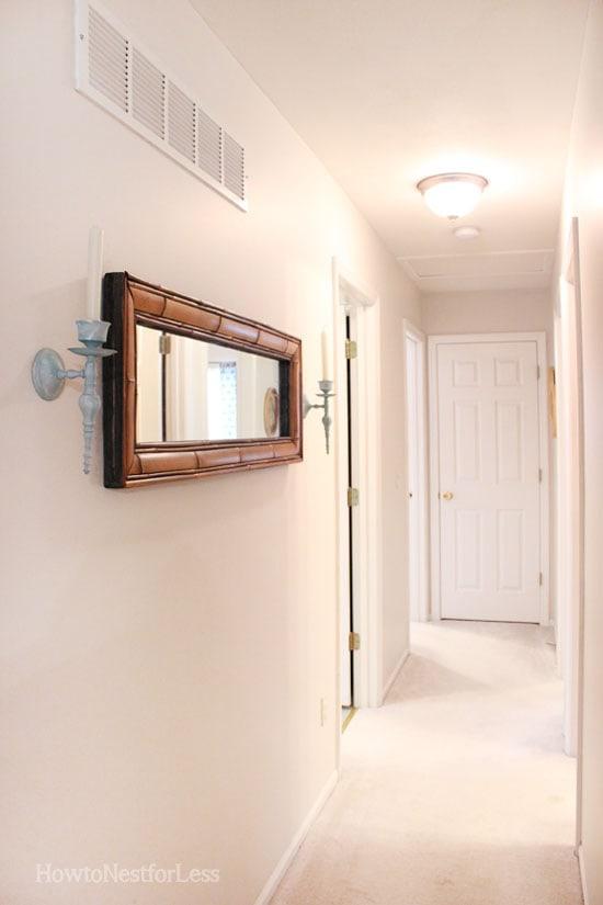 hallway mini makeover