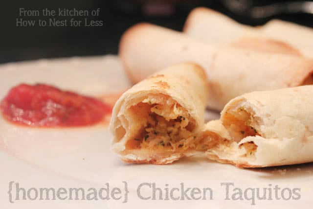 home made chicken taquitos