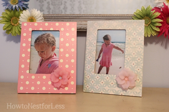 mod podge flower picture frames