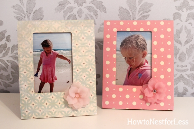 mod podge scrapbook paper wood frames - Wooden Picture Frames Cheap