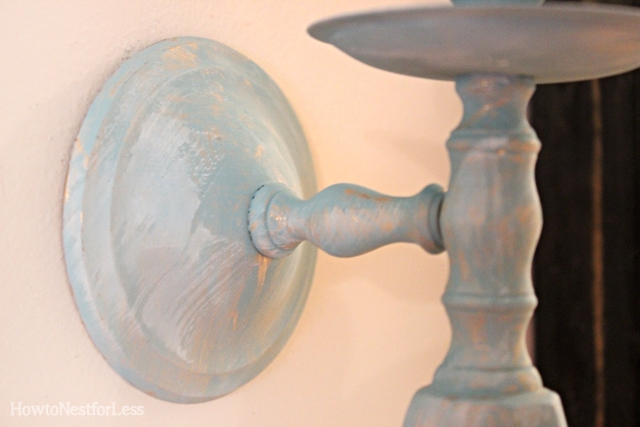 painted gold sconce candlestick