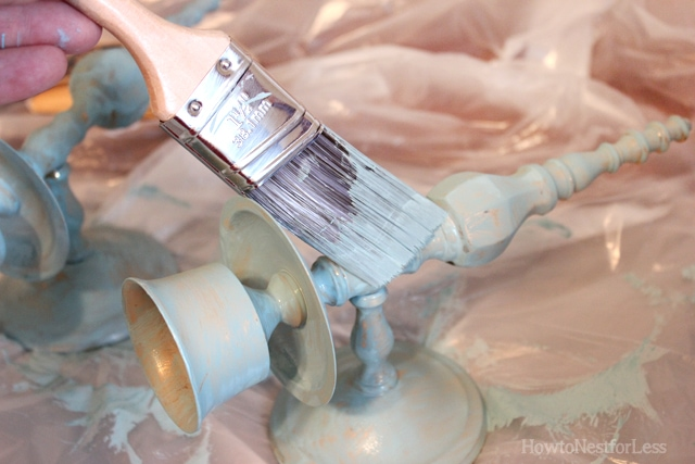 painted gold sconce candlesticks