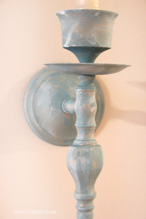 painted hallway gold sconce candlestick