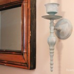 painted hallway sconce candlesticks