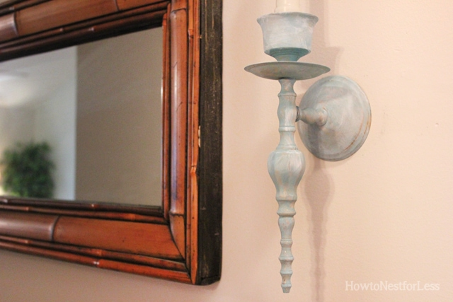 Painted Hallway Candle Sconces