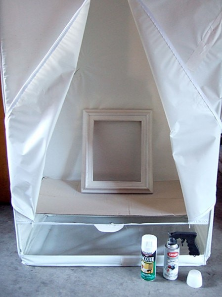 spray painting tent