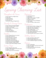 spring cleaning to do list