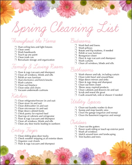 Spring Cleaning Free Printable - How To Nest For Less™
