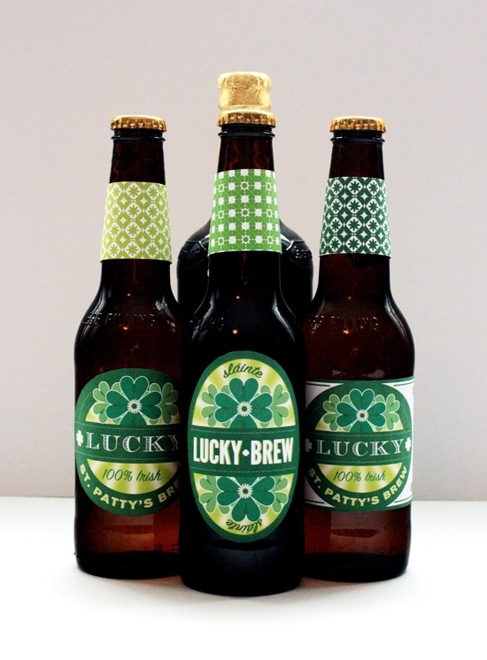st patricks day beer labels