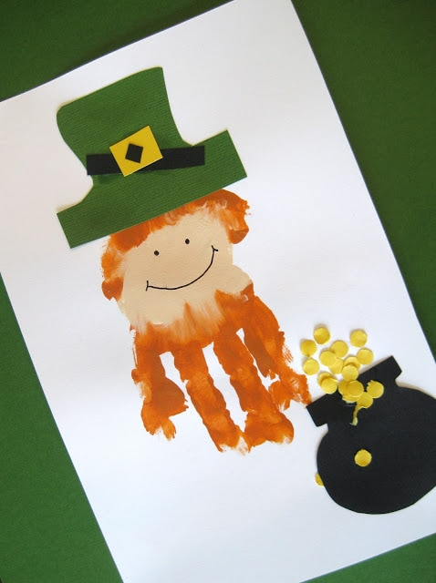 st patricks day hand paint craft
