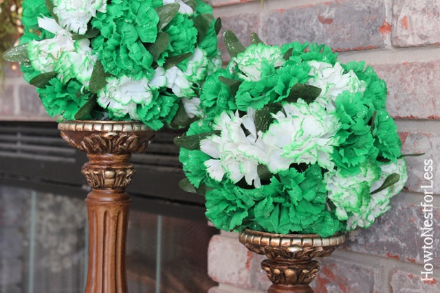 st patricks day kissing balls craft