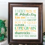 St. Patrick's Day Subway Art {free printable}