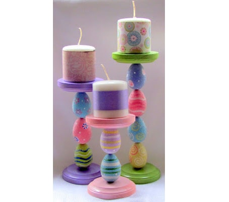 DIY Easter Egg Candle Holders