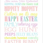 Easter Subway Art {free printable}