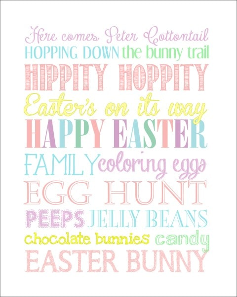 Easter subway art free printable