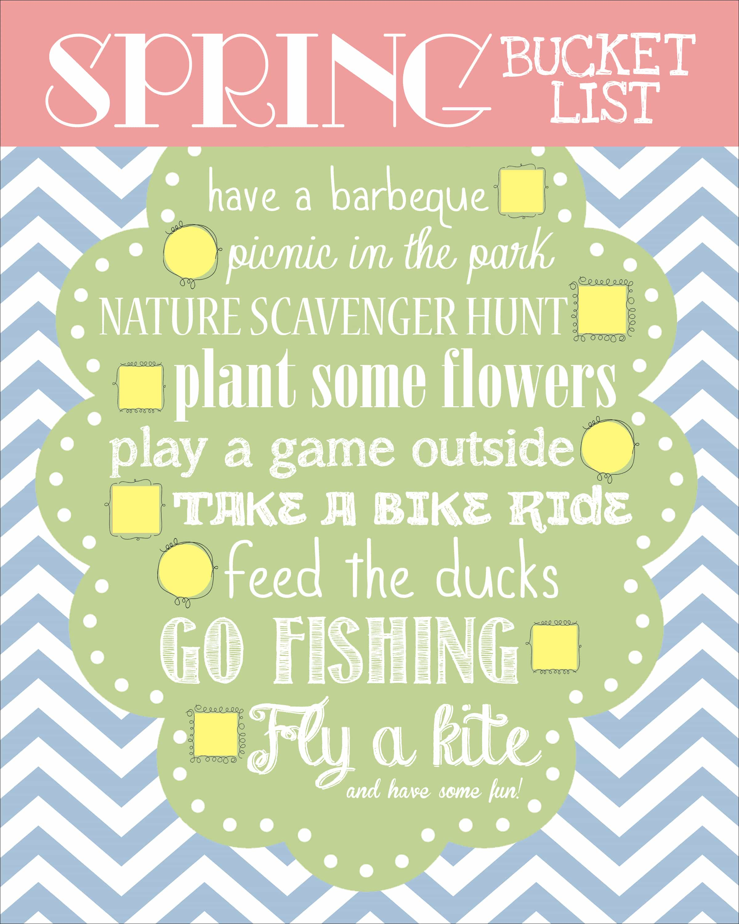 Spring Bucket List free Printable How To Nest For Less