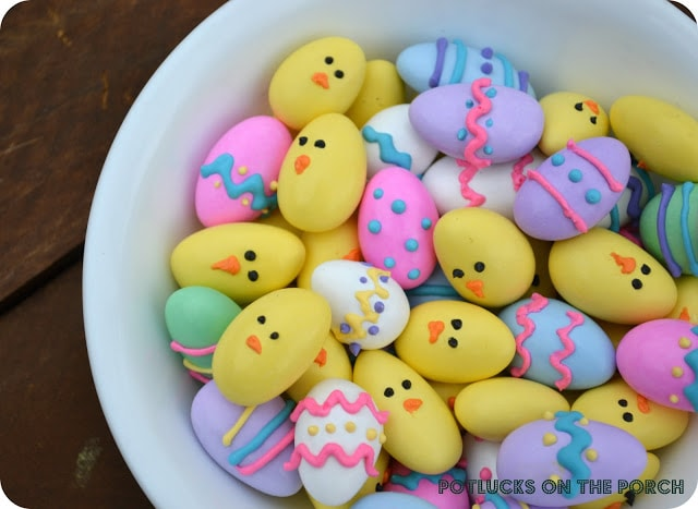 almond easter eggs and chicks 1