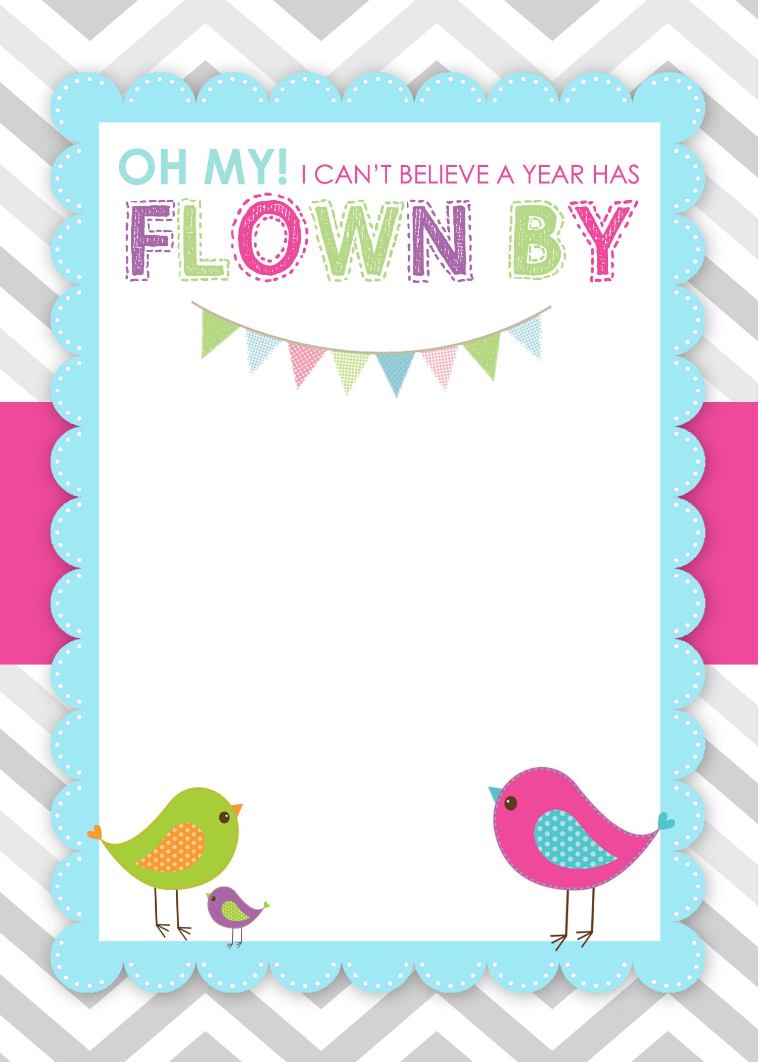 Bird Birthday Invitation Free Printable  Birthday Invitation Free Template