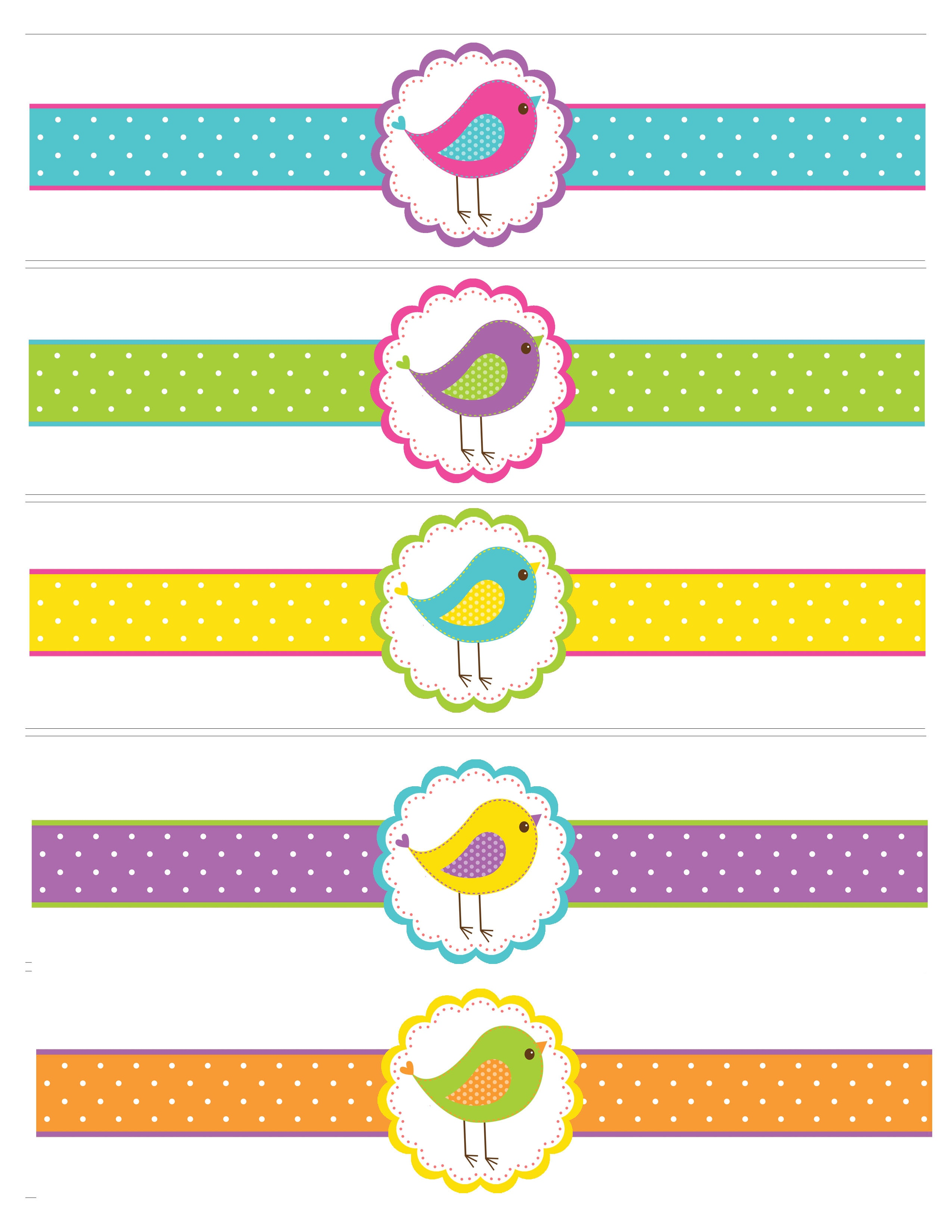 bird water bottle labels