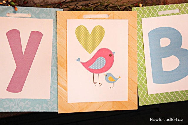 birdie birthday banner free printable