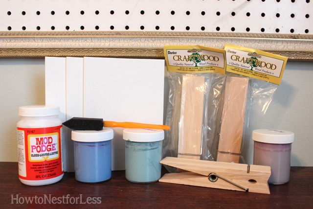 clothespin photo frames supplies