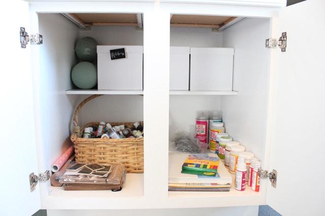 craft room DIY desk organization