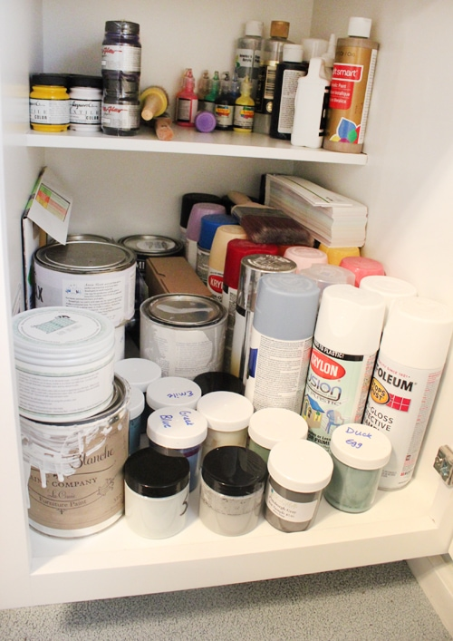 Craft room organization how to nest for less - Supplies needed to paint a room ...