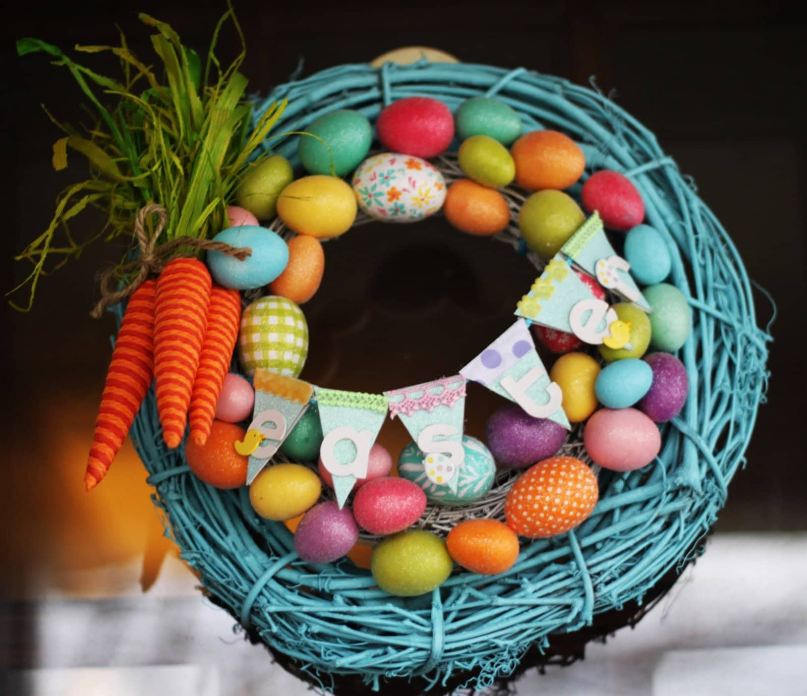 Two Silly Monkeys Easter Basket Wreath: Get Inspired: 15 Easter Project Ideas