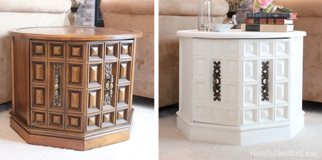 Great Room End Table Makeover How To Nest For Less