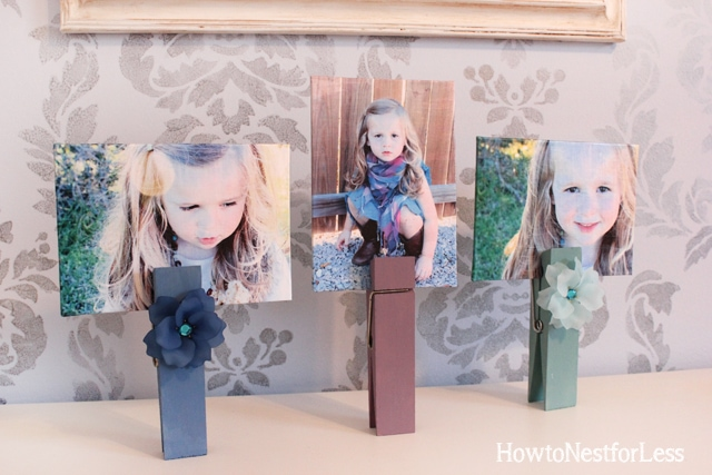 oversized clothespin photo holders