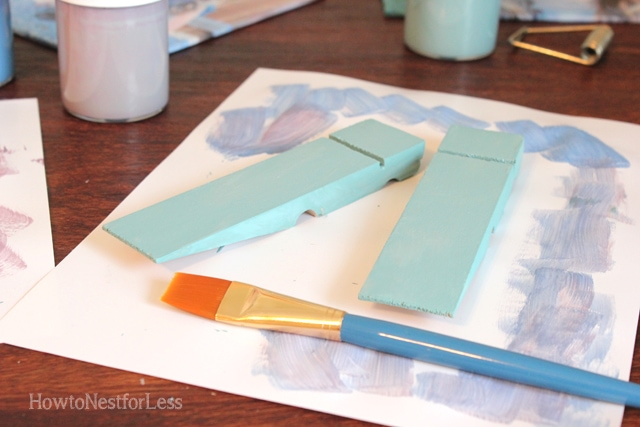 paint clothespin photo holders