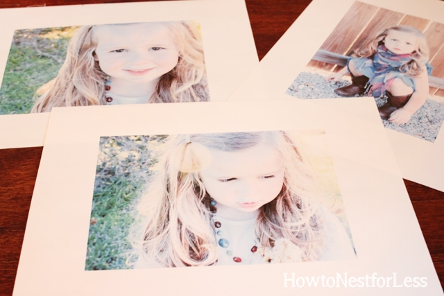 printed photos for clothespin photo holders