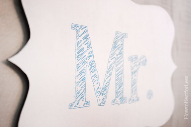 silhouette sketch pens mr and mrs sign