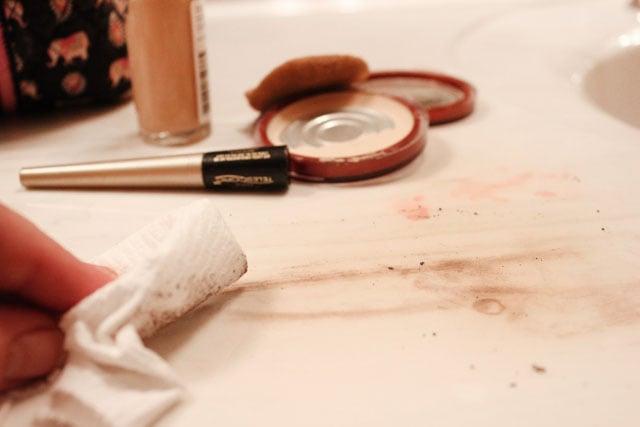 smudged makeup
