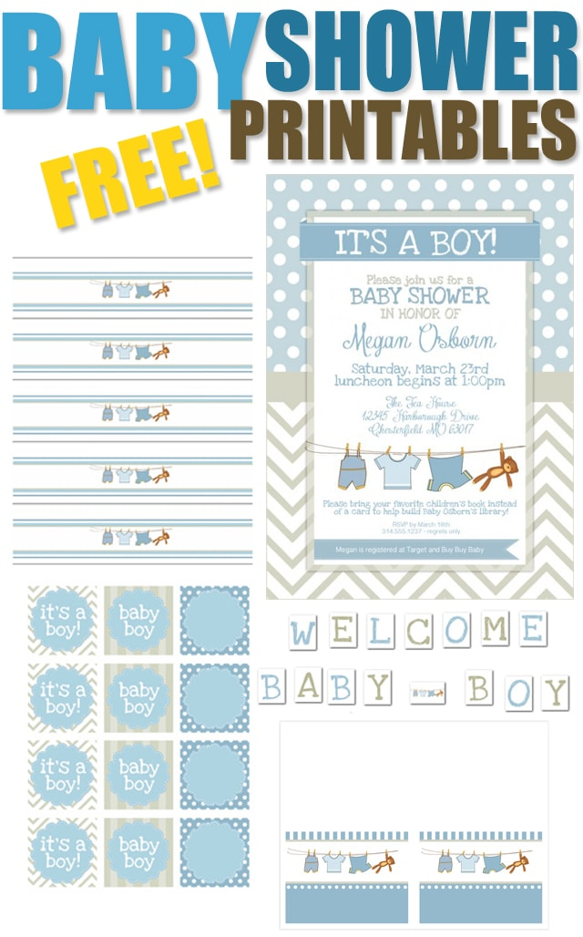 Delicate image in free printable baby shower