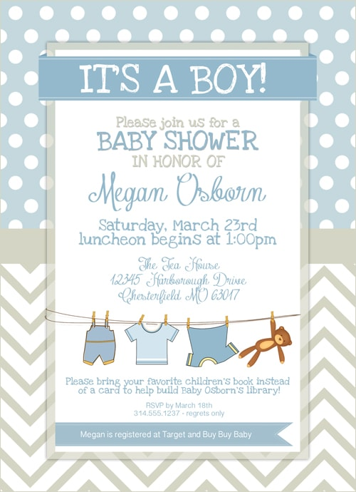 Rare image for free printable baby shower invitations for boys