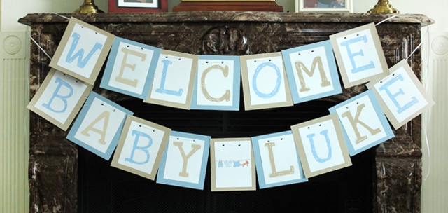 "image relating to Welcome Baby Banner Free Printable named Boy Child Shower Totally free Printables - How in direction of Nest for Lessâ""¢"