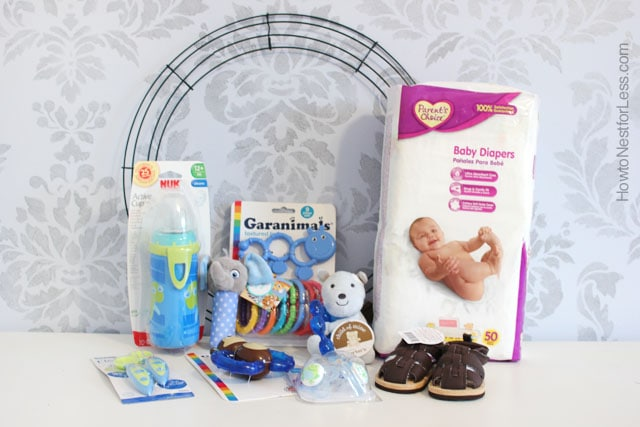 Baby Diaper Wreath How To Nest For Less